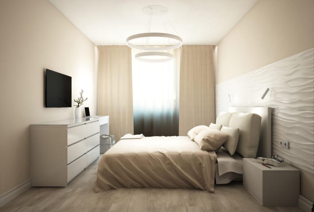 спальня в кремовых тонах