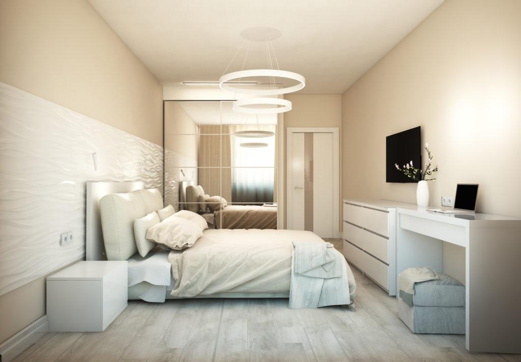 фото кремовой спальни